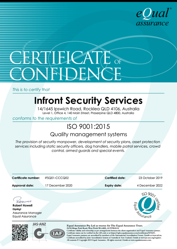 INFRONT GROUP ACCREDITATION